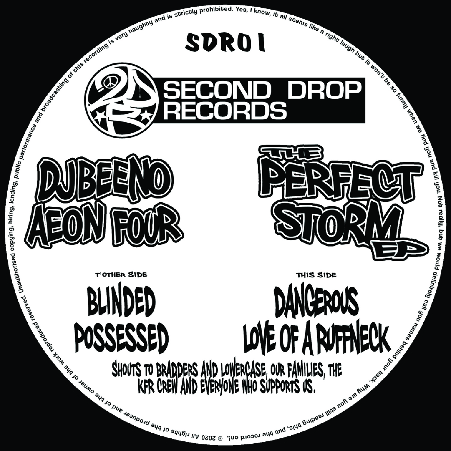 "[SDR01] Dj Beeno & Aeon Four - The Perfect Storm Ep (12"" Vinyl + Digital)"