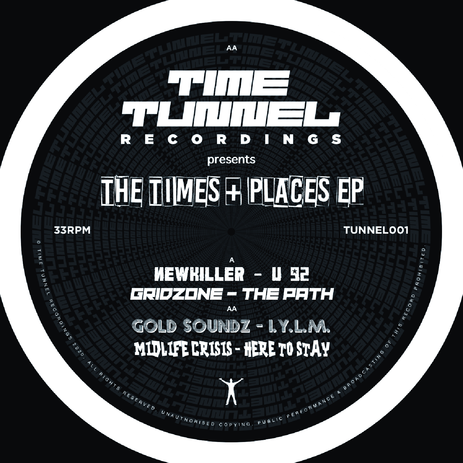 "[TUNNEL01] Various - The Times & Places EP (12"" Vinyl + Digital)"