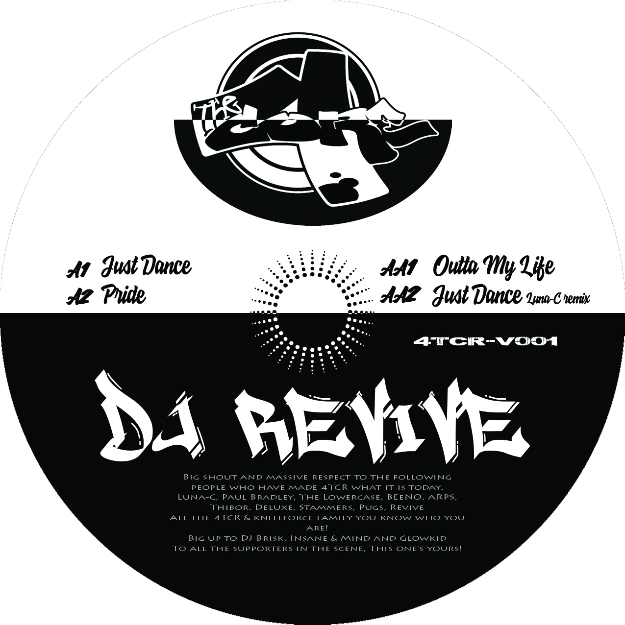 "[4TCR-V001] Dj Revive - Just Dance EP (12"" Vinyl + Digital)"