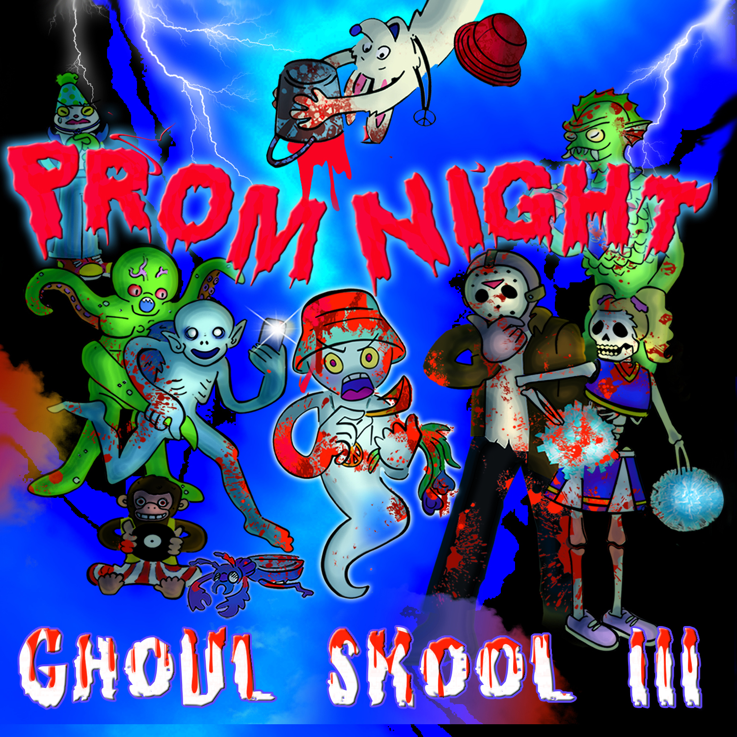 [KFALP004] Various - Ghoul Skool LP Vol. 3 - Prom Night (2xCD + Digital)