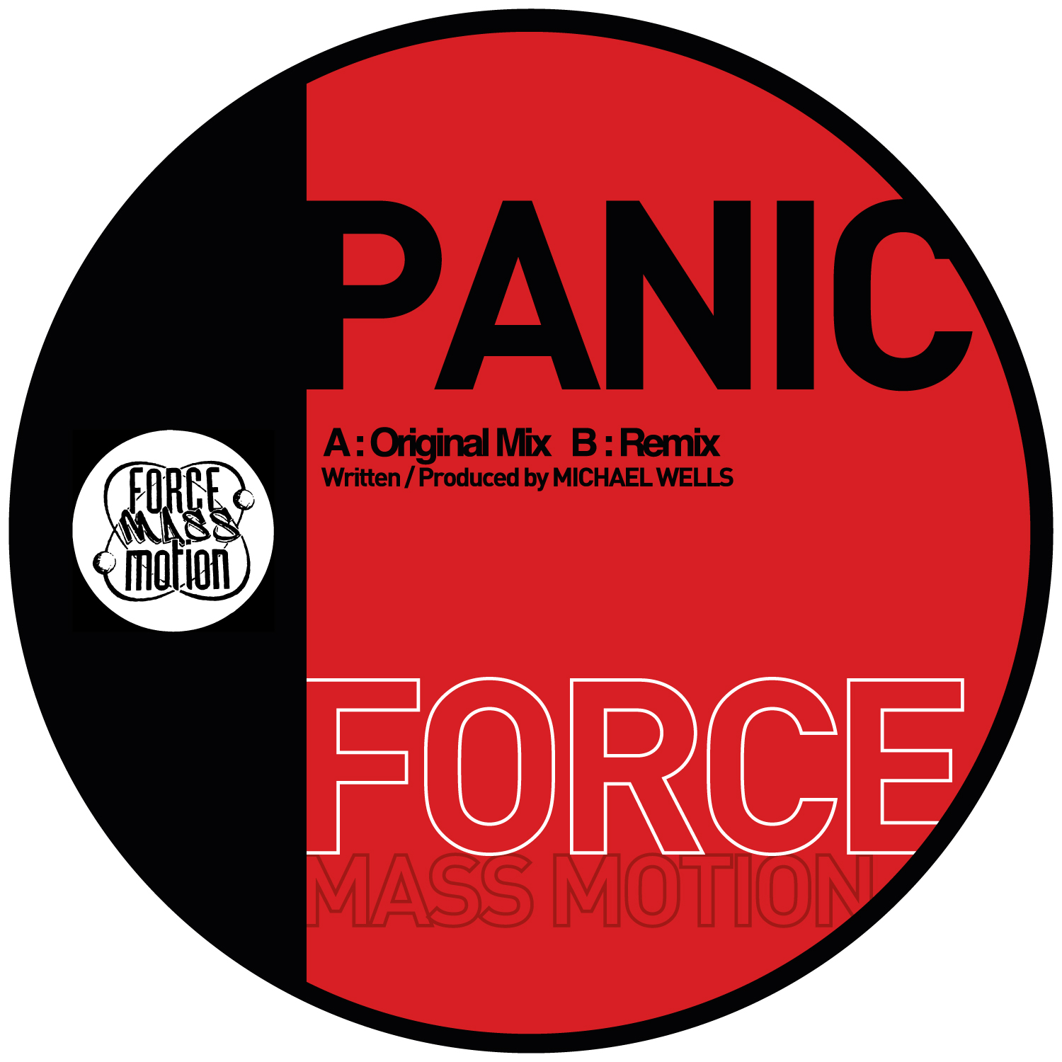 "[FMM01] Force Mass Motion - Panic EP (12"" Vinyl + Digital)"