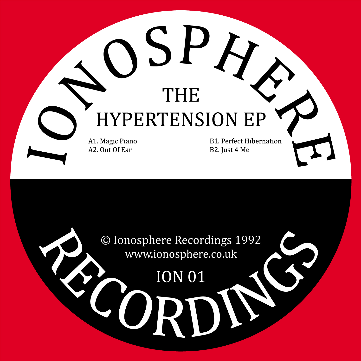"[ION01] Ionosphere - The Hypertension EP (12"" Vinyl + Digital)"