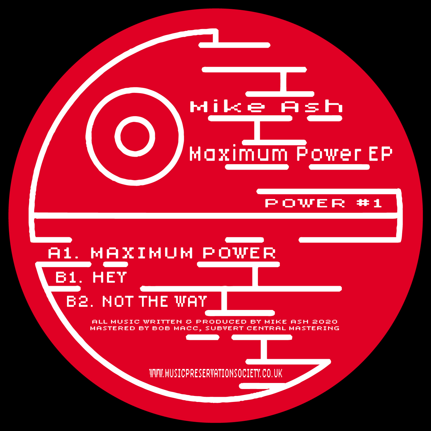 "[MASH01] Mike Ash - Maximum Power EP (12"" Vinyl + Digital)"