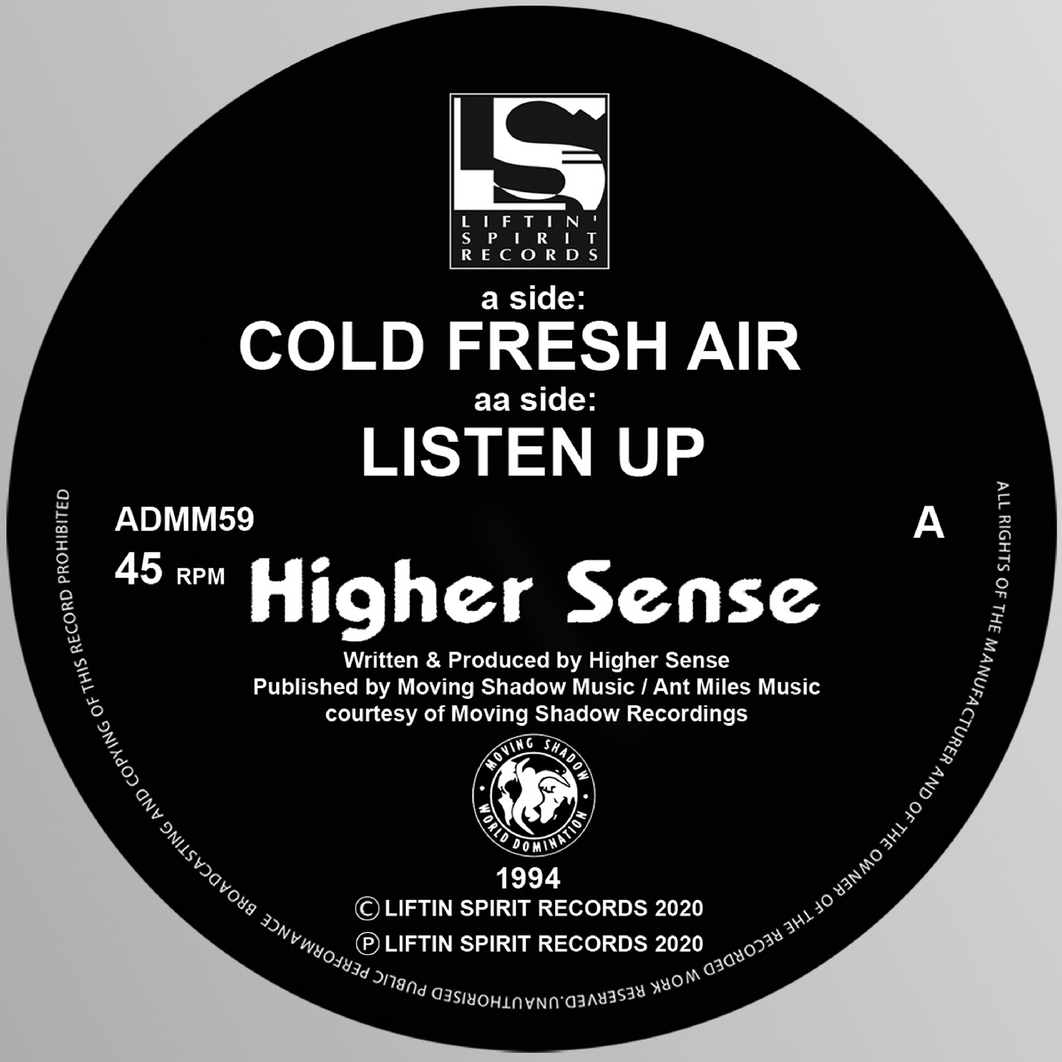 "[ADMM59] Higher Sense - Cold Fresh Air EP (12"" Vinyl)"